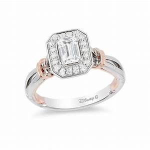 Enchanted disney snow white 5 8 ct tw emerald cut for Snow white wedding ring