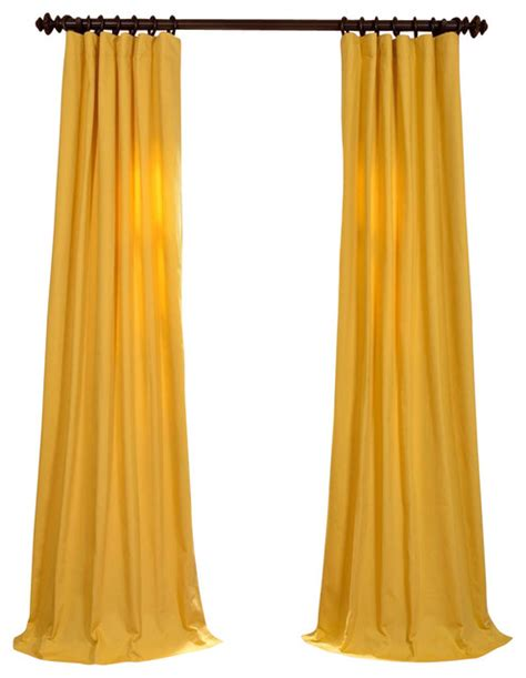 Bombay Kitchen by Mustard Yellow Cotton Twill Curtain Traditional