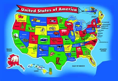 large kids map   usa usa maps   usa maps