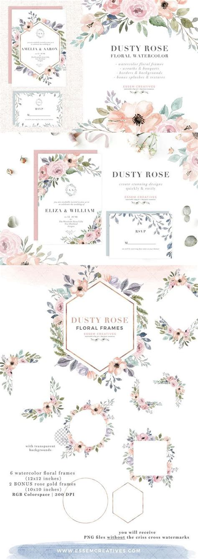 modern floral wedding invitations   typography