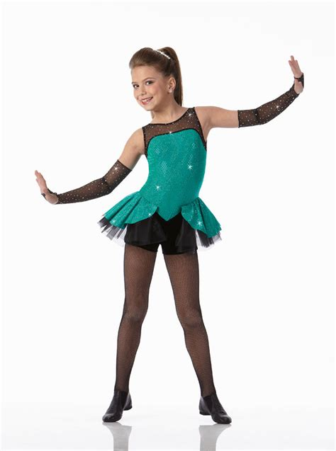 A GIRL CAN ROCK Biketard w/Mitts Tap Dance Costume Child Small u0026 6x7 | eBay