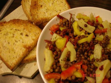 cuisine sans lactose salade de lentilles végétalien la cuisine sans lactose