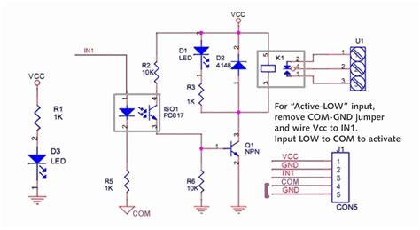 12v Relay Schematic Diagram by 1 Channel Relay Interface Solarbotics