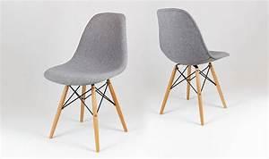 Chaise de cuisine grise cuisine blanche grise et for Deco cuisine avec chaise blanche pied bois