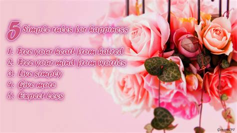 flowers happy quotes pink background  wallpaper