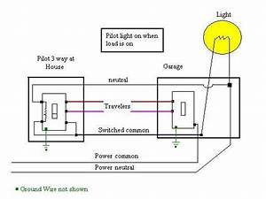Wiring Diagram For Three-way Switches With Pilot Light - Electrical