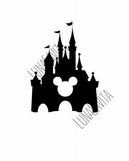 Castle Disney Silhouette Svg Mickey Mouse Walt