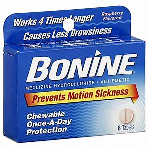 Bonine® 8-Count Chewable Motion Sickness Tablets - www