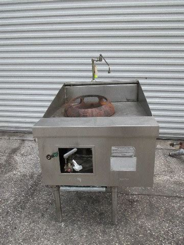 chinese wok  hole duck burner range gas cng heated range  water connection