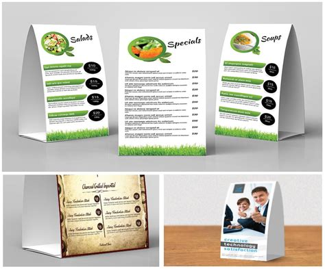 4x6 table tent template 4x6 table tent printing