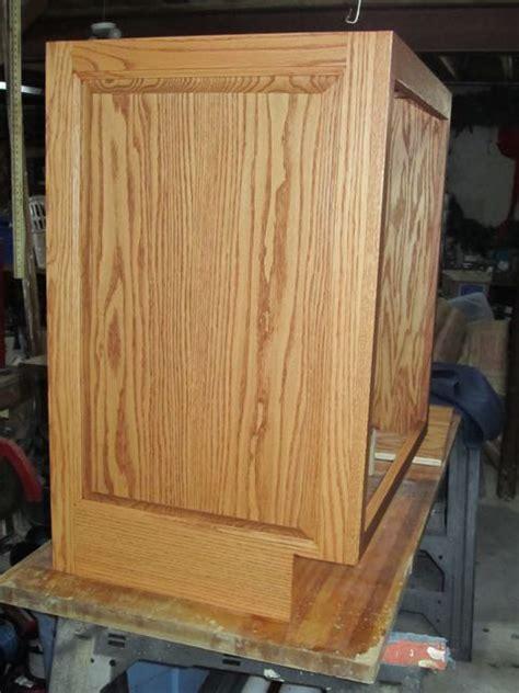 cabinet finished end panels flushing cabinet end panels best method finish