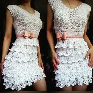 Bow Lace Dress And Lace Crochet Chart  Free Crochet