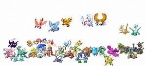 Shiny Legendary Pokemon by KiwiGuru64 on DeviantArt