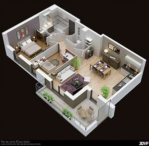 plan maison moderne 3d 3d pinterest plan maison With plans d appartements modernes