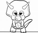 Dinosaur Coloring Cartoon Printable sketch template