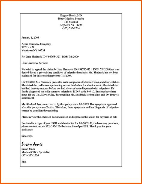 provider appeal letter  insurance company