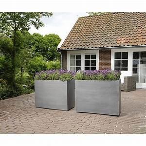 Blumentopf Aussen Grau : fiberstone blumenkasten jort grau 100x40x50cm ~ Sanjose-hotels-ca.com Haus und Dekorationen