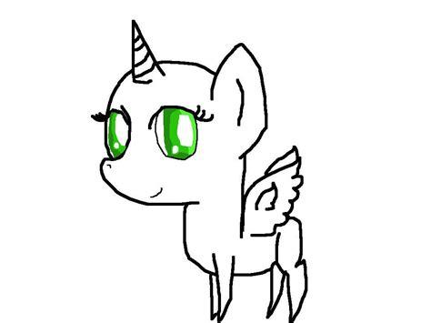 Happy Chibi Pony Base Alicorn By Rockythebunny13 On Deviantart
