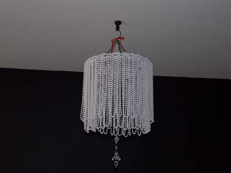 how to make chandelier diy beaded chandelier cheap easy youtube