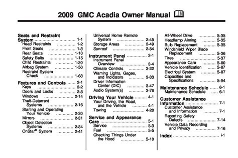 online auto repair manual 2010 gmc acadia security system 2009 gmc acadia owners manual just give me the damn manual