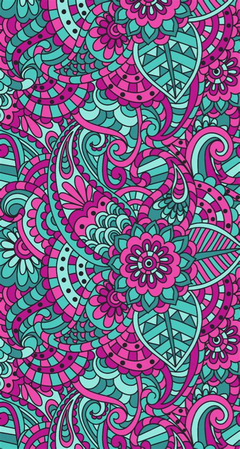 mandalas pink wallpaper fondo green we heart it wallpaper background and pattern