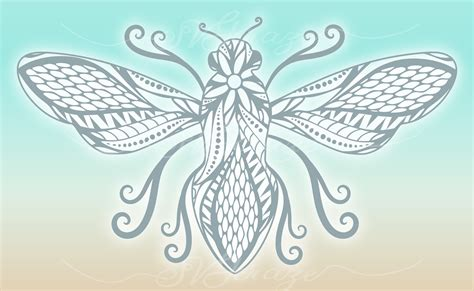 Click to learn more about how you can become a tattoo artist. Beautiful Bumble Bee Mandala Zentangle SVG Dxf Eps Png ...