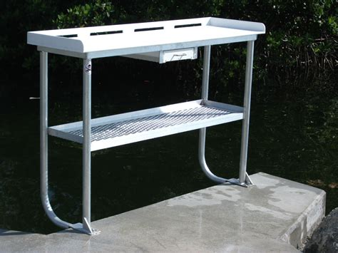 aluminum fish cleaning table fish cleaning table upper keys marine construction