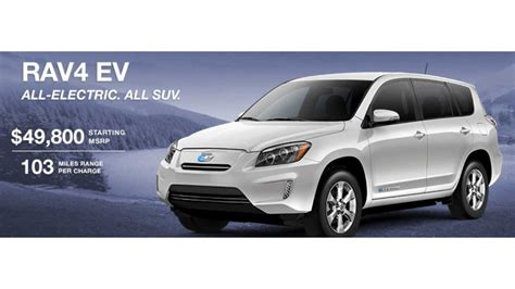 Toyota Rav4 Ev Lease by Toyota Discounts The Rav4 Ev By 10 000 With 0 Financing