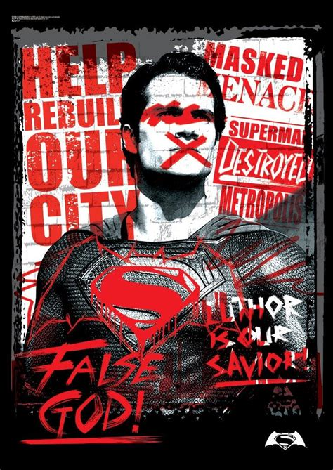 Batman V Superman Dawn Of Justice (false God) Mightyprint