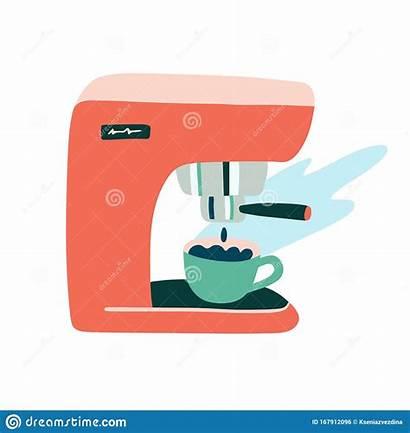 Coffee Clipart Espresso Machine Doodle Maker Drawn