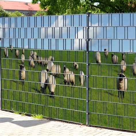 Sichtschutz Garten Glas Bedruckt by Sichtschutzstreifen Bedruckt Motiv Schafe Am Deich