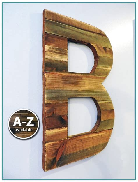 large wooden letters  wall decor