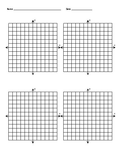 Free Printable Graph Paper With X And Y Axis  Blank Coordinate Grids  Cakes  Pinterest Math