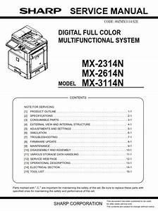 Sharp Mx 2314n 2614n 3114n Copier Service Manual And