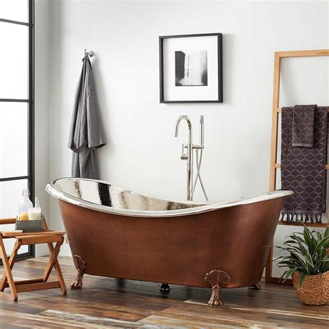 copper claw foot tub 72 quot hammered copper slipper clawfoot tub