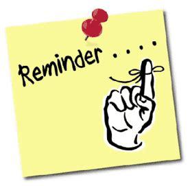 reminder parent orientation white oak primary school