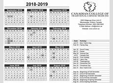 Free Download Canada 2019 Calendar PDF, Excel, Word