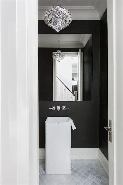 black grasscloth wallpaper contemporary bathroom
