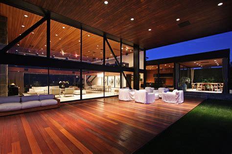 wood deck terrace revamped interior  beverly hills