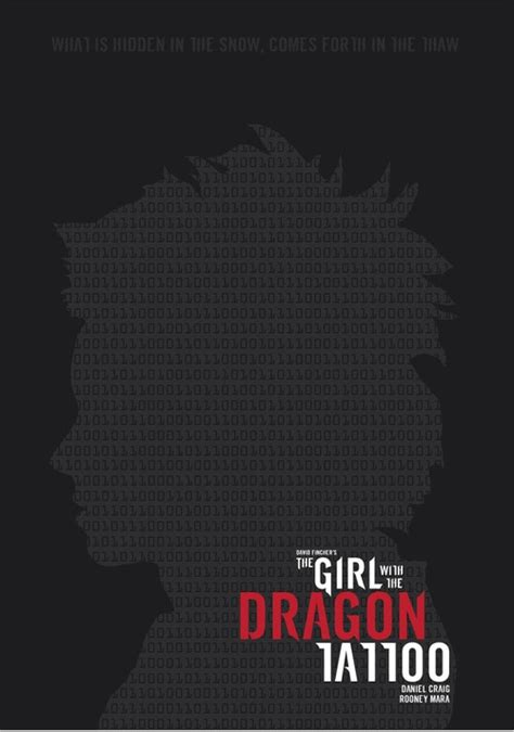 girl   dragon tattoo minimalist posters
