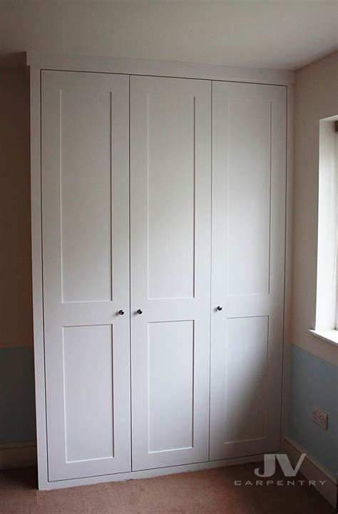 classic fitted wardrobe with shaker doors from floor to