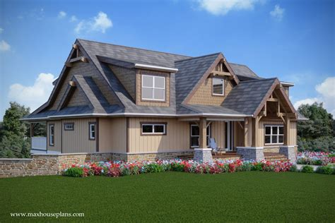 story rustic open living lake house plan max fulbright