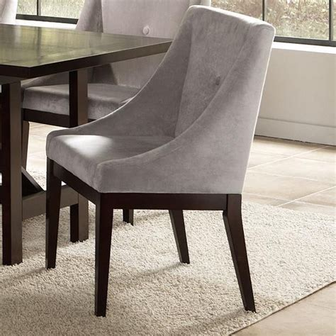 gray tufted chair gray tufted dining chair dining chairs design ideas 1332