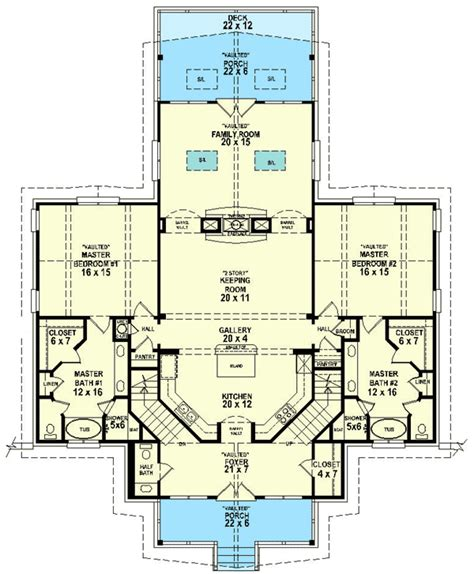 Master Suite House Plans plan 58566sv dual master suites real rabin