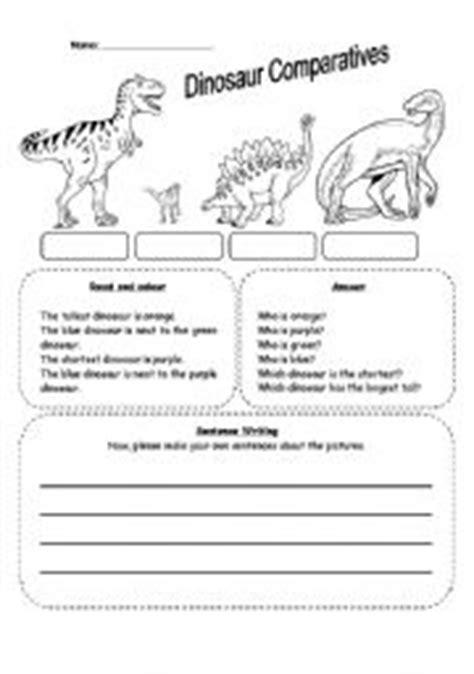 reading comprehension worksheet dinosaurs dinosaurs worksheets