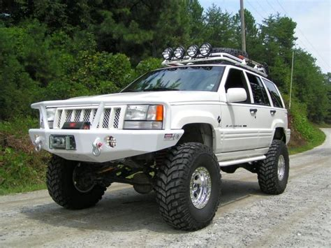 old white jeep cherokee custom white jeep zj monster cherokee huge spec built jeep