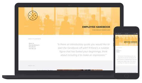Employee Handbook Template Employee Handbook Template And Exles Xtensio