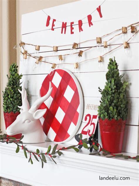 Buffalo Check Christmas Mantel Landeelucom