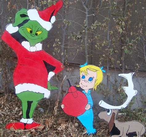 The Grinch Outdoor Decorations - wood yard decoration patterns the grinch 3