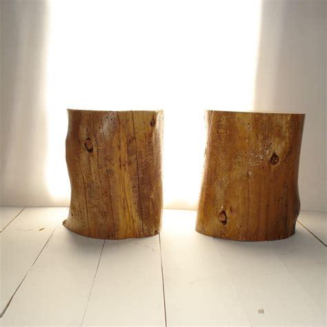 Tree Stump Side Table Seat